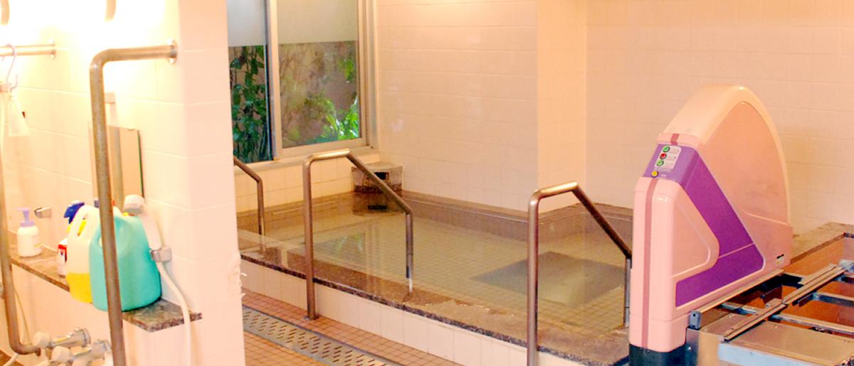 広くて清潔で設備も整った浴槽